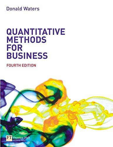 Quantitative Methods for Business (4th Edition)