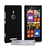 Yousave Accessories Hard Hybrid Cover Case for Nokia Lumia 925 - Black