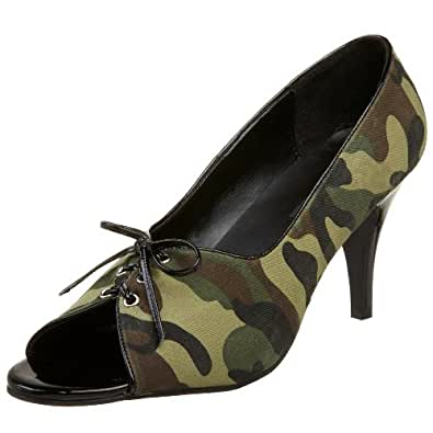 Funtasma by Pleaser Women's Pupil-24 Pump,Camouflage Fabric,6 M