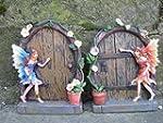 Set of 2 Sparkle Fairy Door Garden Ho...