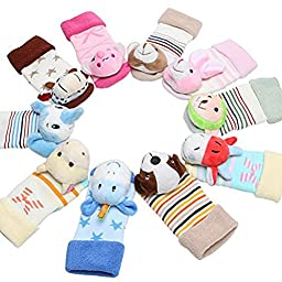 Children Booties Baby Boys Girls Slippers Rattle Toe Animal Socks Sports Fun