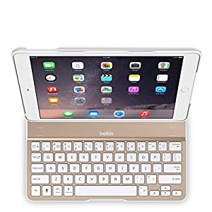 Belkin QODE Ultimate Keyboard Case for iPad Air 2 (White and Gold) from Belkin Inc.