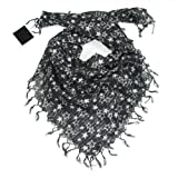Women's Fashion Star Scarf with Silver Lurex - Cotton Scarf for Women