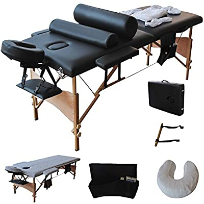 "Super buy 84""L Massage Table Portable Facial SPA Bed W/Sheet+Cradle Cover+2 Pillows+Hanger"