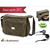 [CANVAS] ARMY GREEN | Universal 10-inch Tablet Case Messenger Bag for 10.1 Lenovo ThinkPad. Bonus Ekatomi Screen...
