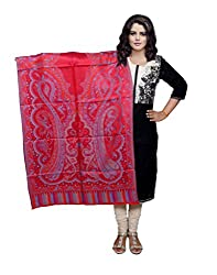 Indiweaves Fashion Women Red Viscose Shawl