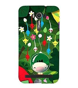 99Sublimation Boy Underwater with Flowers 3D Hard Polycarbonate Back Case Cover for Asus Zenfone 2 Laser ZE550KL