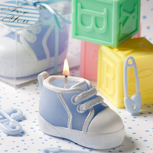 Fashioncraft Baby Bootie/Sneaker Design Candle, Blue