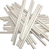 """100 150mm (6"""") White Plastic Lollipop Sticks for Cake Pops and Lollies"""