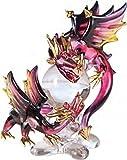 Fighting Dragons Crystal Ball Glass Fantasy Figurine