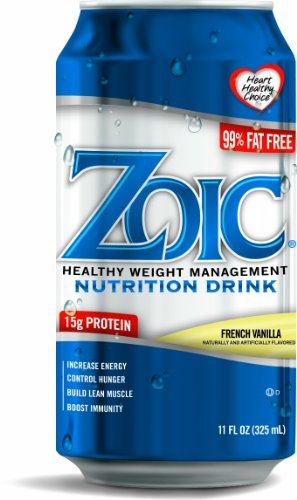 ZOIC Nutrition Drink, French Vanilla (Pack of 24)