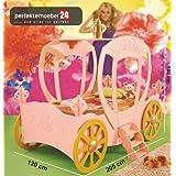 PRINCESS CARRIAGE Bett Kinderbett Autobett Jugendbett Spielbett inkl. Lattenrost und Matratze kurze Lieferzeit...