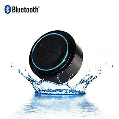 IBSound IPX7 Waterproof Bluetooth Shower Speaker - Portable / Wireless Handsfree Speaker - Work with iPhone 5, 5s, 4s, 4, iPod, iPad, Samsung Galaxy S4, S5, Note 3, 2, Tablets, MP3, Notebooks, Laptop, PC and Other Smartphones - 1 Year Warranty (Black)