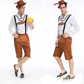 GTU Deluxe Men's Farmer Cosplay Sexy Lingerie Halloween Gift Pary Club Costume Set