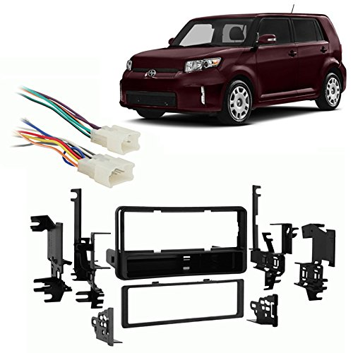 Fits Scion xB 2004-2014 Single DIN Aftermarket Harness Radio Install Dash Kit (Scion Xb Harness compare prices)