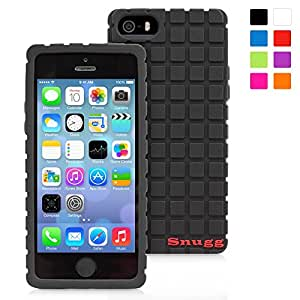 Snugg iPhone 5 / 5S Silicone Case in Black - Non-Slip Material, Protective and Soft to Touch for the Apple iPhone 5 / 5S