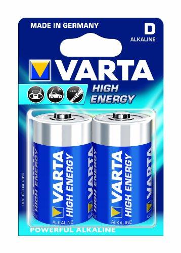 Varta - Piles - 2 Piles - LR20 - AM1 MN1300 Torcia 1,5V