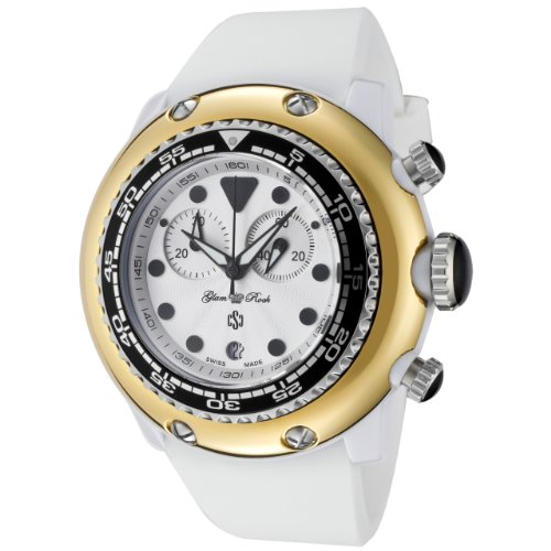 Glam Rock Women's GR20123 Miami Beach Chronograph White Dial Silicone Watch