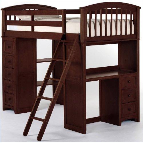 Kids Loft Beds With Desk 855 front