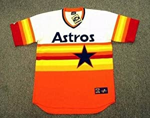 HOUSTON ASTROS 1980's Majestic Cooperstown Throwback Home Jersey, MEDIUM