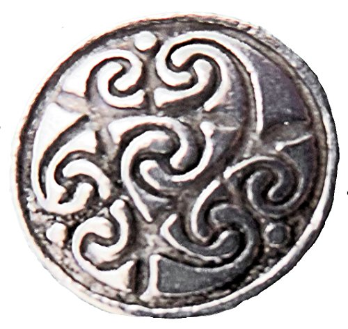 "Bold Celtic Spirals Pewter Button 3/4"" (Card of 4)"