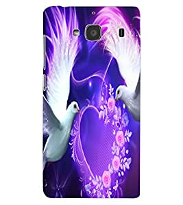 ColourCraft Love Birds Design Back Case Cover for XIAOMI REDMI 2S