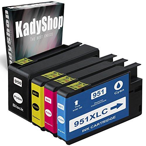 4er Set Druckerpatronen Kompatibel für Hp 950 XL + HP 951 XL (1x Schwarz, 1x Cyan, 1x Magenta, 1x Yellow), HP Officejet Pro 8615 e-All-in-One 8620 e-All-in-One 8640 e-All-in-One 8610 e-All-in-One 8660 e-All-in-One 8600 e-All-in-One 251 dw 8100 ePrinter 276 dw 8600 Plus e-All-in-One 8600 Premium e-All-in-One 8630 e-All-in-One hp950/951-4erSet