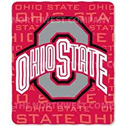 "Ohio State Buckeyes NCAA Light Weight Fleece Blanket (031 Series) (50""x60"")"
