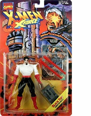"X-Men X-Force Evil mutant BLACK TOM 5"" Action Figure (1994 ToyBiz)"
