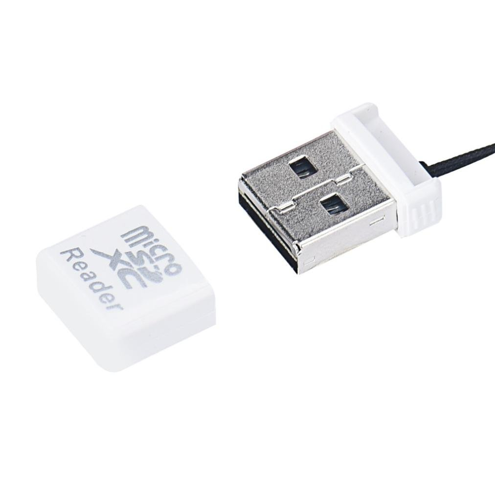 Card Reader,TOOPOOT MIni Super Speed USB 2.0 Micro SD/SDXC TF Card Reader Adapter (white)