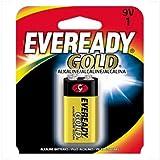 Energizer A52BP Eveready Gold 9V (1-Pack), Black