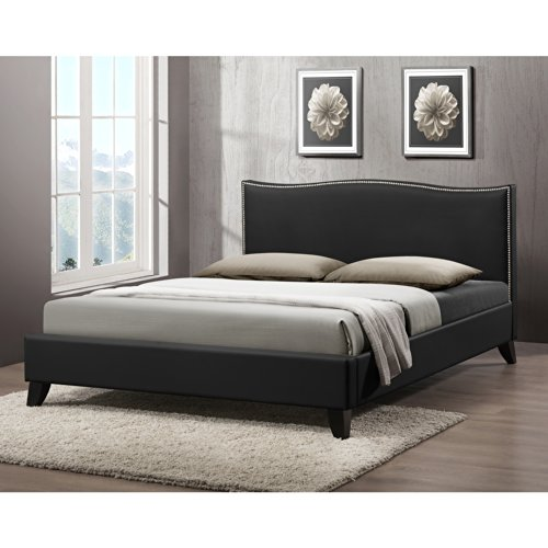 Black Wooden Beds 3815 front