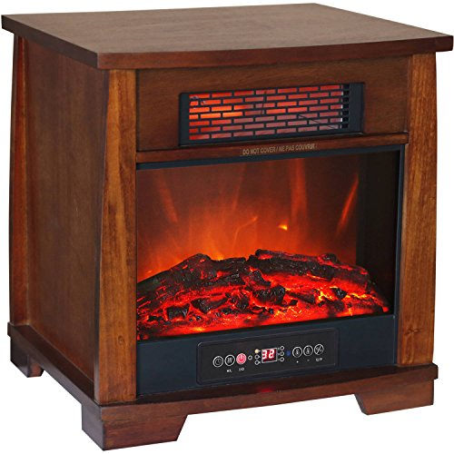 Heat Wave Compact Glow Infrared Quartz Heater Flame Effect with Remote Control (Overhead Gas Furnace compare prices)
