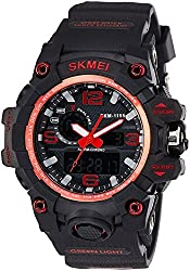 Skmei Analog-Digital Red Dial Mens Watch - 1155BBR