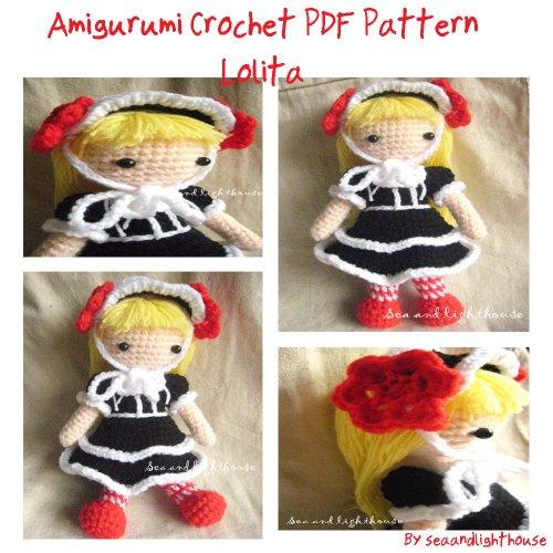 Lolita Amigurumi Crochet Dolls PDF Pattern