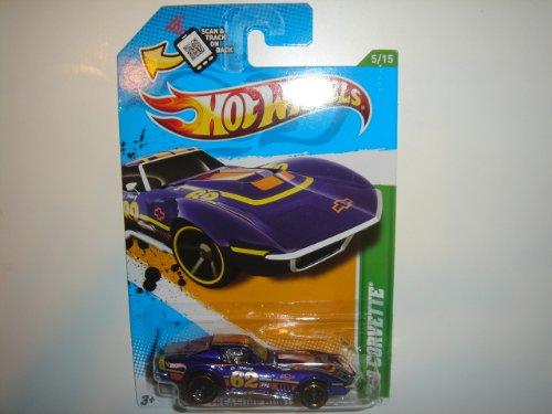 2012 Hot Wheels Treasure Hunt '69 Corvette Blue Violet #55/247 Image
