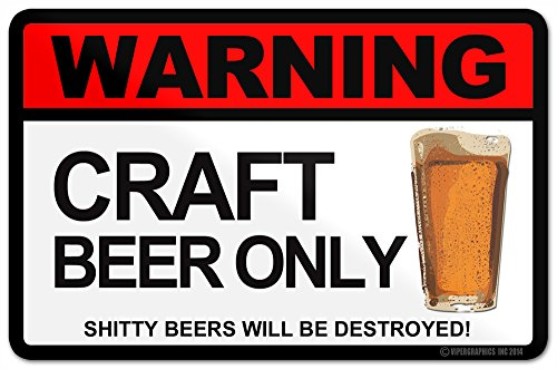 Warning Craft Beer Only Fridge Sticker Kegerator Refridgerator Hops Home Brew Micro Decal (1)