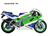 UK-Printing Kawasaki ZXR400 1991 on Canvas & Framed 16 X 12 Inch