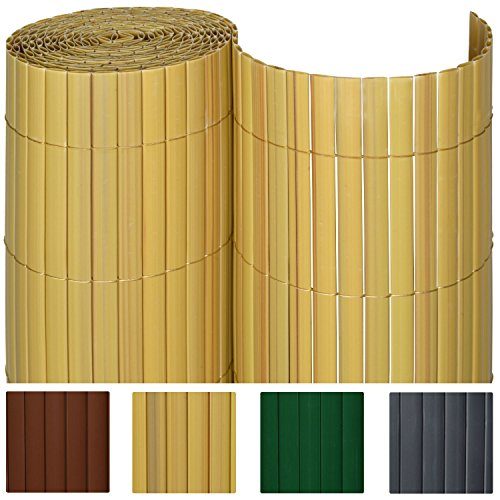 sol royal pvc sichtschutz zaun 90x400cm in bambus. Black Bedroom Furniture Sets. Home Design Ideas