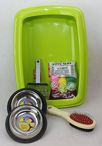 cat-kitten-starter-kit-with-42cm-litter-tray-clean-n-tidy-green