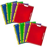 Mead Trapper Keeper Snapper Trapper 2-Pocket Portfolio with Prongs, 11.88 x 12 x .12 Inches, Assorted, Pack of 8 (73047)