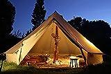 ベルテントBell tent 特大 ハイクオリティ 100%コットン仕様 6m 防水 ティーピーテント グランピング [並行輸入品]