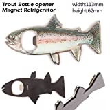 Rainbow Trout Magnetic Bottle Opener Novelty Fishing Gift Tools