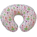 Boppy Pillow Slipcover, Classic Owls and Flowers Pink