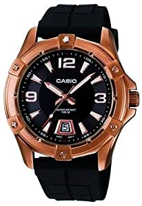 CASIO Collection MTD-1062-1AVEF - Reloj de caballero de cuarzo, correa de resina color negro