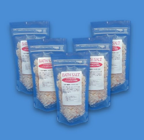 入浴用岩塩 バスソルト200g×5袋セット ヒマラヤ産 天然ピンク岩塩 3~8mm粒200g入
