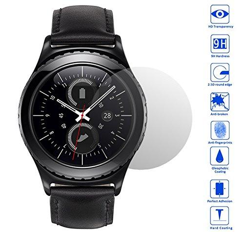 Wunderglass® - Samsung Gear S2 Vetro Temperato antiproiettile Pellicola salvaschermo Protettiva Protezione Protettore Glass Screen Protector - di OKCS®