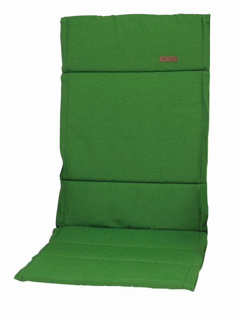 6 Stück MADISON Dessin Panama Gartenmöbel-Auflage, 75% Baumwolle, 25% Polyester, 123 x 50 x 4 cm, in grün