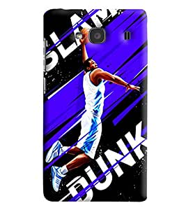 Blue Throat Slam Dunk Basket Baprinted Designer Back Cover/Case For Xiaomi Redmi 2S