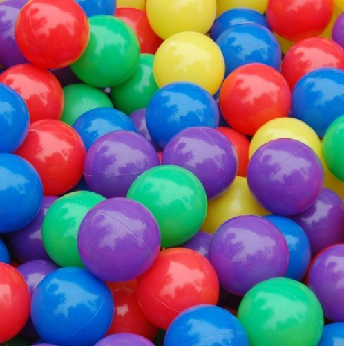 "50 Pcs Colorful Soft Plastic Ocean Fun Ball Balls Baby Kids Tent Swim Pit Toys Game Gift 2.76"" (Random colors)"